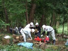 006森林組合・廣川茂「伐採原木運びと薪割り作業」